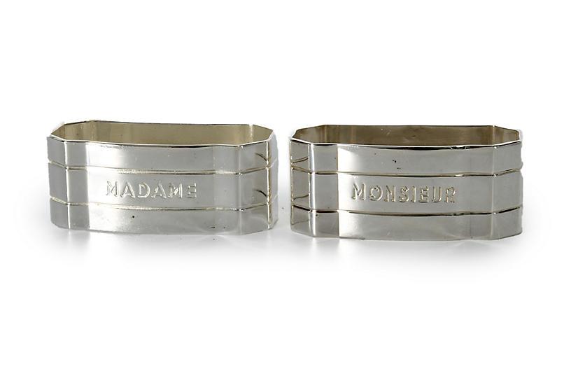French Madame & Monsieur Napkin Rings