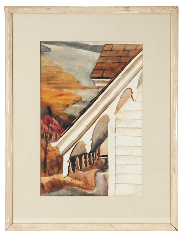 Watercolor of a House Gable