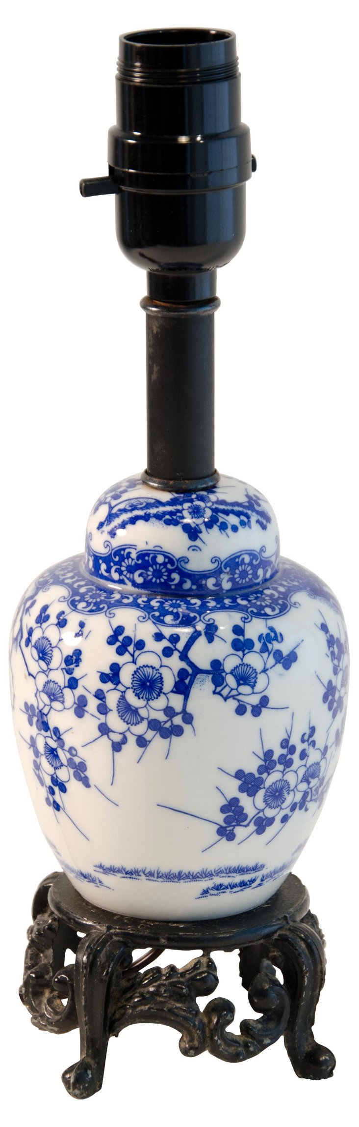 Blue & White Porcelain Lamp