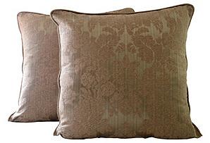 Damask Pillows, Pair