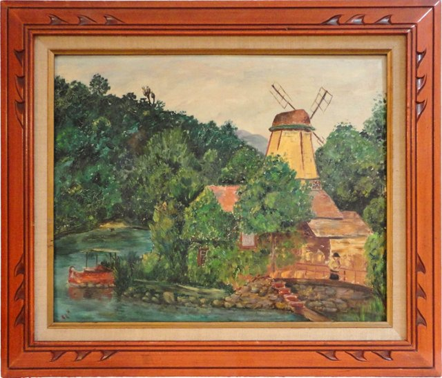 Oil Painting of New England