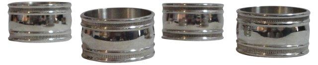 Pewter Napkin Rings, Set of 4