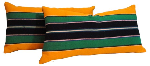 Saddle Blanket Pillows, Pair