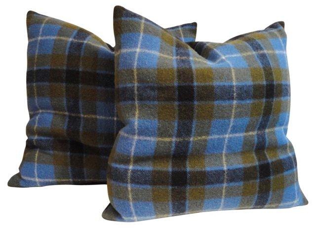 Pendleton Plaid Blanket Pillows,    Pair