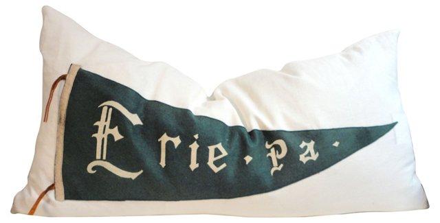 Erie Pennant Pillow