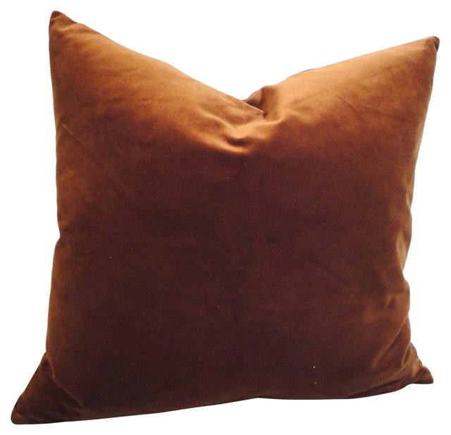 Brown Velvet        Pillow