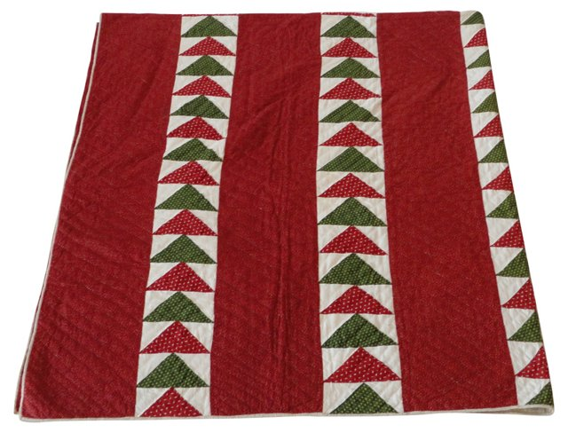 19th-C. Pennsylvania Flying Geese Quilt
