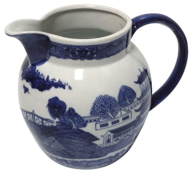 Blue Willow Pitcher