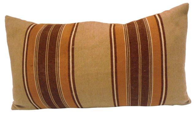 Wool Striped Blanket Pillow