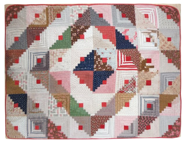 Mounted American Crib Quilt