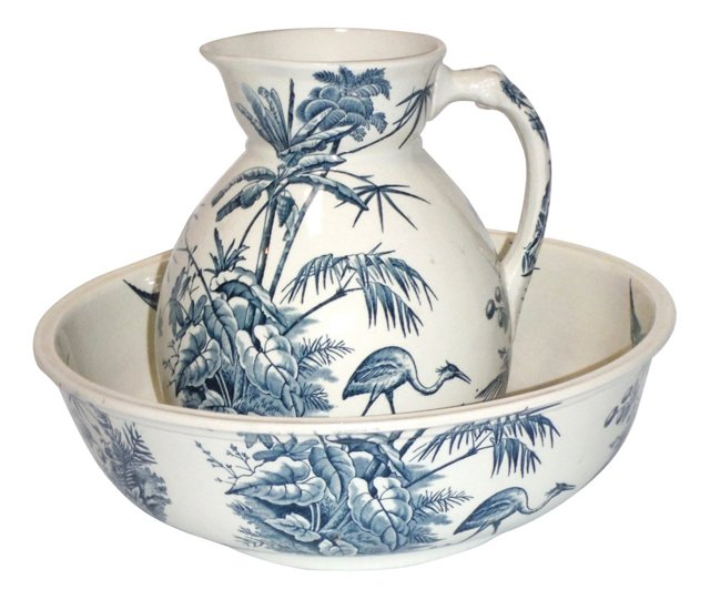 Dunn Bennett & Co. Washbowl & Pitcher