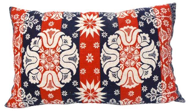 Patriotic Linen  Tea Towel Pillow