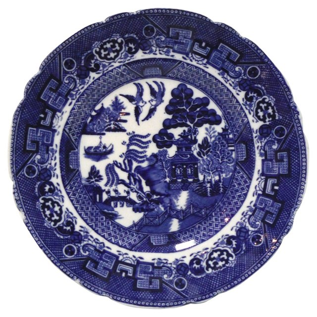 Allertons England Blue Willow Plate