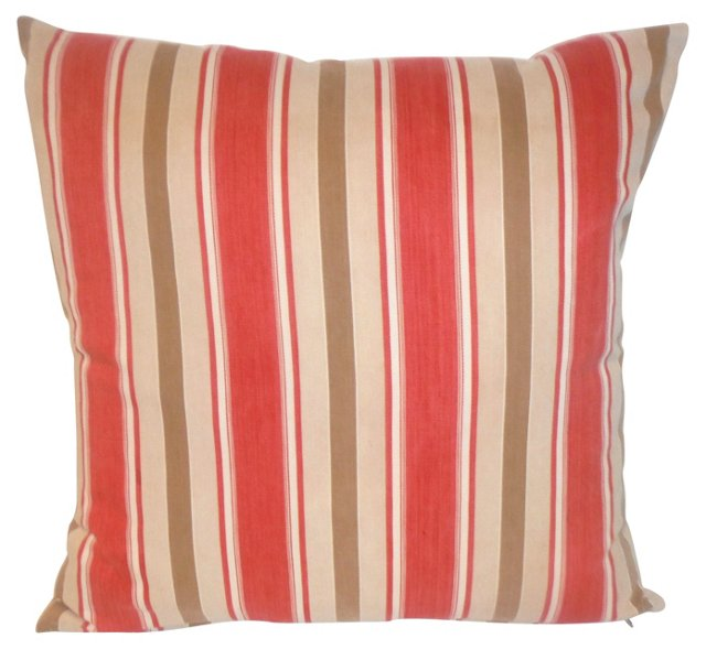 Pillow w/ 19th-C. American     Ticking