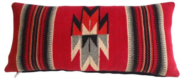 Red Navajo   Weaving Pillow