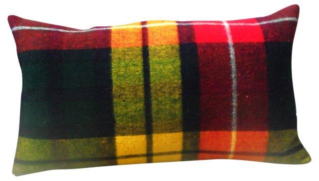 Plaid Blanket Bolster Pillow