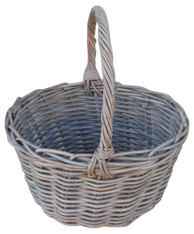 American Gray Painted Basket