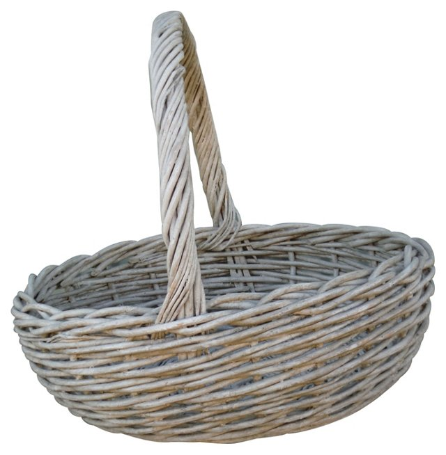 19th-C. White Basket