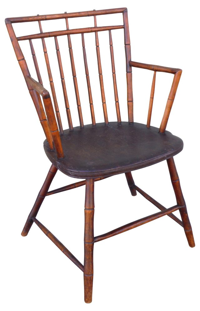 19th-C.  Birdcage Windsor Armchair