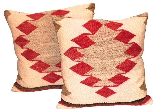 Navajo    Weaving    Pillows, Pair