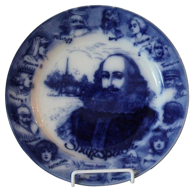 Flow Blue Shakespeare Plate