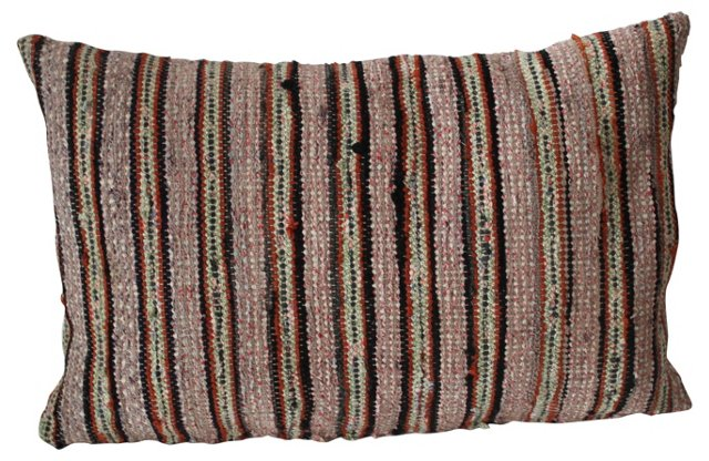 Multicolor Rag Rug Pillow