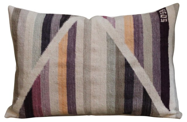 Handwoven Navajo  Weaving Bolster Pillow