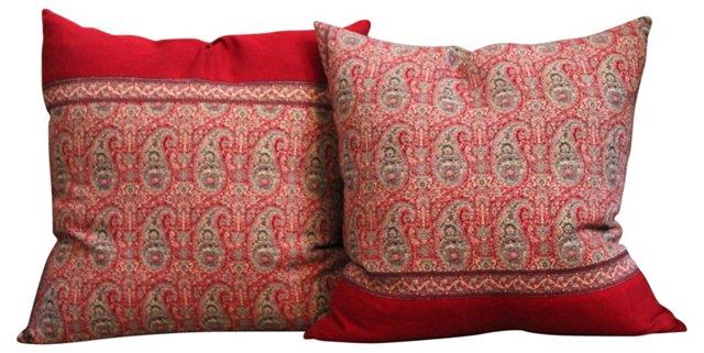 Paisley Pillows, Pair