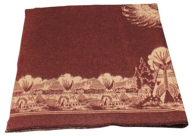 Native Indian-Themed Camp Blanket