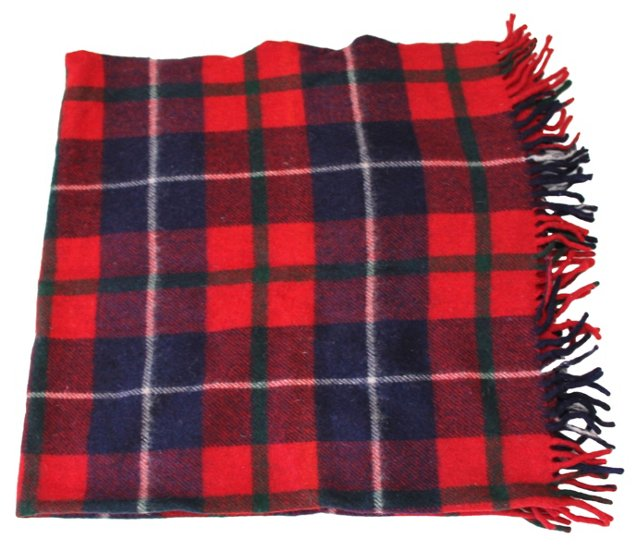 Fringed Plaid    Blanket