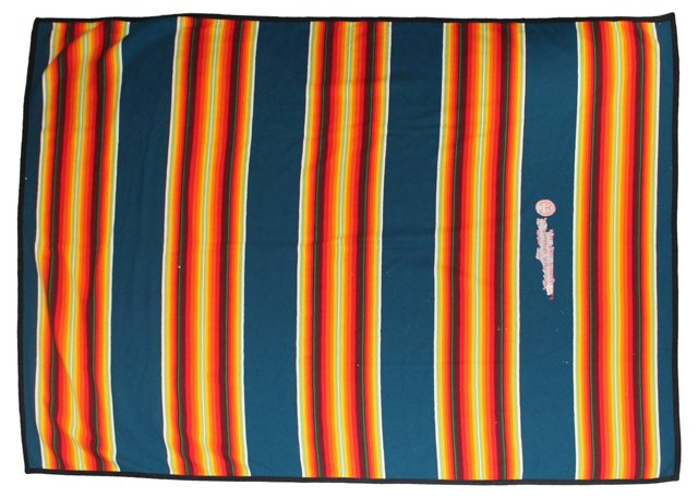 Blue-Stripe Camp Blanket