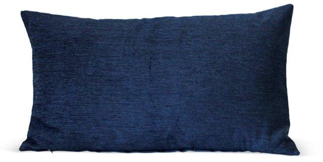 Blue Sheer Velvet Pillow