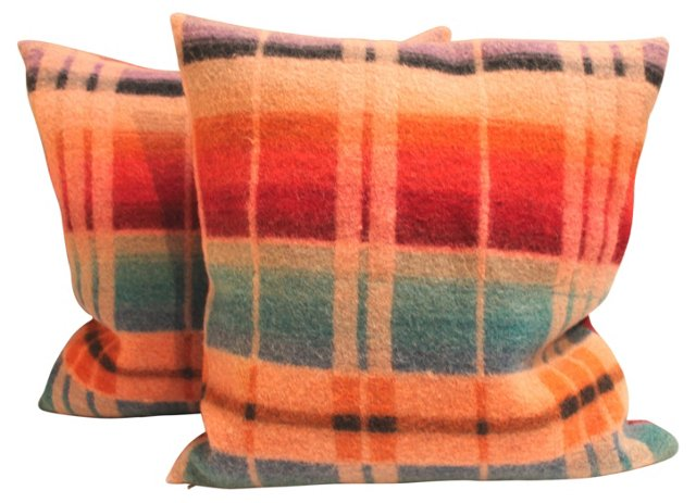 Horse    Blanket    Pillows, Pair