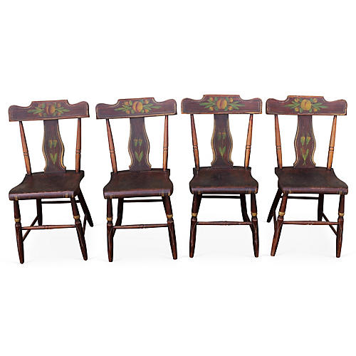 19th-C. Pennsylvania Chairs, S/4