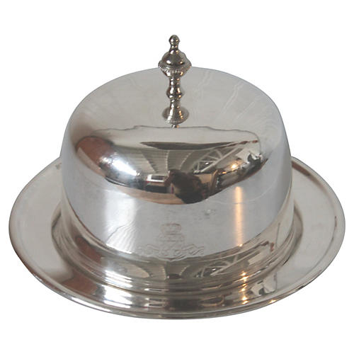 Grand Hotel Silver Cake Platter & Lid