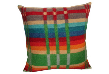 Colorful Horse Blanket Pillow