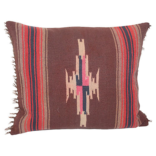 Early 20th-C. Navajo-Style Pillow