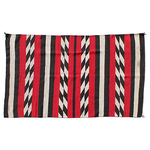 Navajo-Style Weaving in Chevron Pattern