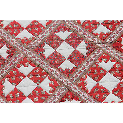 19th-C. Paisely Quilt