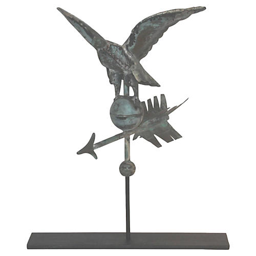19th-C. Eagle Weathervane