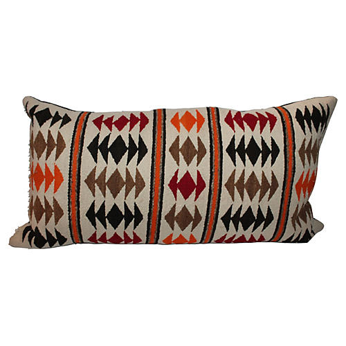 Navajo-Style Weaving Bolster Pillow