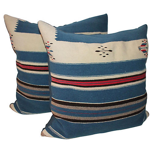 1930s Texcoco Pillows, Pair