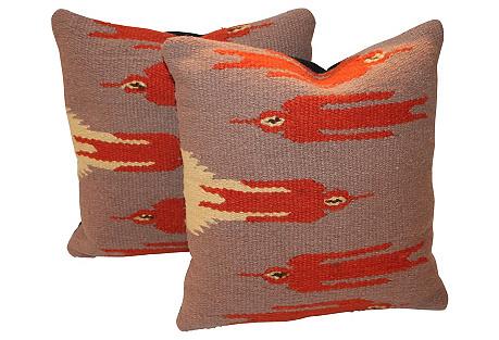 Flight Bird Pillows, S/2