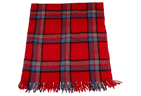 Red & Blue Plaid Blanket