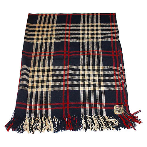 Fringed Plaid Blanket