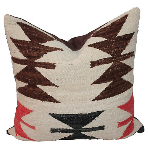 Navajo-Style Weaving Pillow