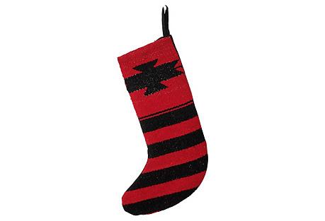 Black & Red Stocking