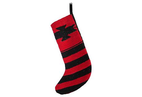 Red & Black Stocking