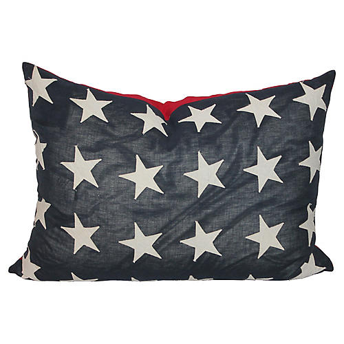 Double-Sided American Flag Pillow