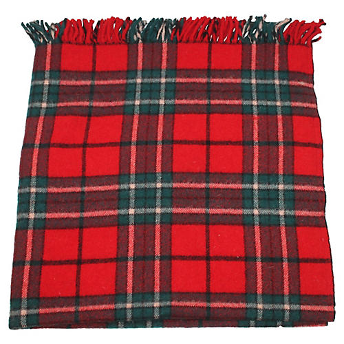 Plaid Faribo Blanket w/ Fringe